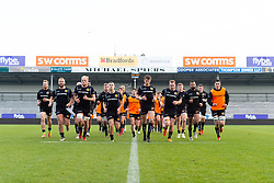 Exeter Braves run in prior to kick off - Mandatory by-line: Ryan Hiscott/JMP - 17/11/2018 - RUGBY - Sandy Park Stadium - Exeter, England - Exeter Braves v Gloucester United - Premiership Rugby Shield