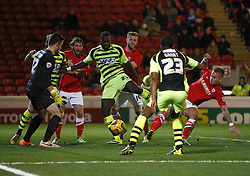 Yeovil Town's Ishmael Miller misses a great chance - Photo mandatory by-line: Matt Bunn/JMP - Tel: Mobile: 07966 386802 14/12/2013 - SPORT - Football - Barnsley - Oakwell - Barnsley v Yeovil Town - Sky Bet Championship