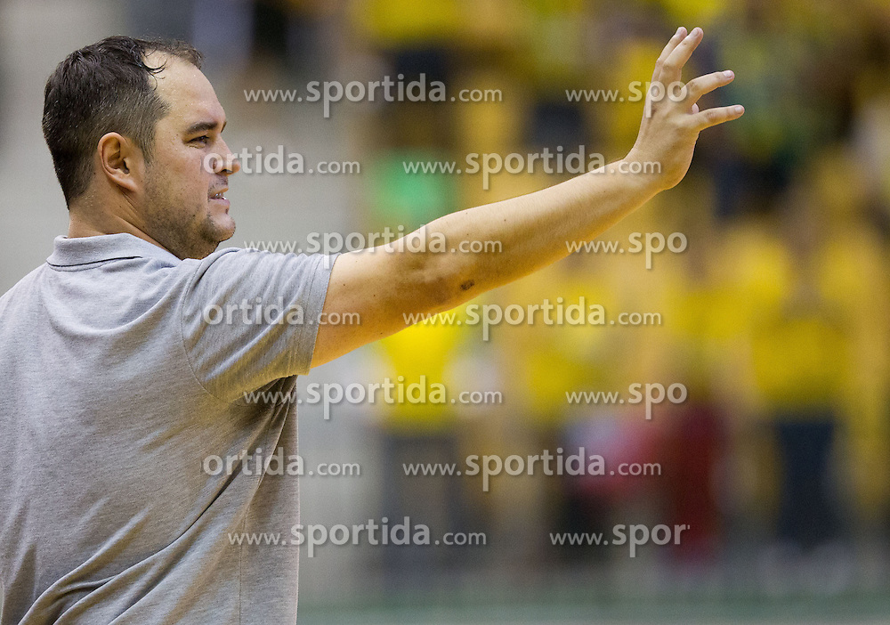 Branko Tamse, head coach of Gorenje during handball match between RK Celje Pivovarna Lasko and RK Gorenje Velenje in 5th Round of 1. NLB Leasing Handball League 2012/13 on October 3, 2012 in Arena Zlatorog, Celje, Slovenia. Gorenje defeated Celje 25-24. (Photo By Vid Ponikvar / Sportida)