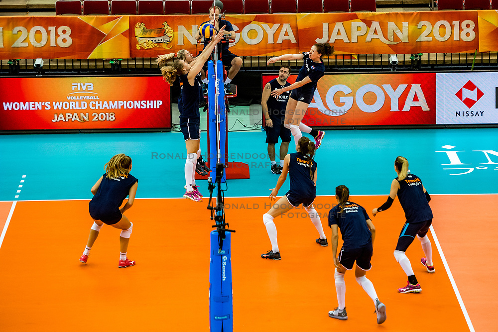 06-10-2018 JPN: World Championship Volleyball Women day 7, Nagoya<br /> Press conference coaches group Nagoya after training day for Netherlands and Brazil / Team NL