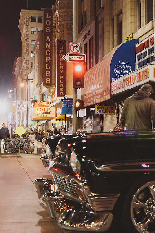 Night on Broadway in Los Angeles. Visitors to downtown Los Angeles had an opportunity to experience a newly revitalized Historic Broadway District. Restored theatres opened their doors to visitors, some for the first time in decades.