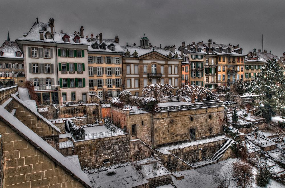 Winter in Bern old city