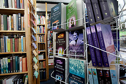 UK ENGLAND FOWEY 19FEB15 - Literature on display at Bookends of Fowey, Cornwall, England, a specialist bookshop on literature by famous English novelist Daphne Du Maurier. Fowey, a small fishing and harbour village was the living place of famous English writer Daphne Du Maurier and many of her novels are based here.<br /> <br /> jre/Photo by Jiri Rezac<br /> <br /> © Jiri Rezac 2015