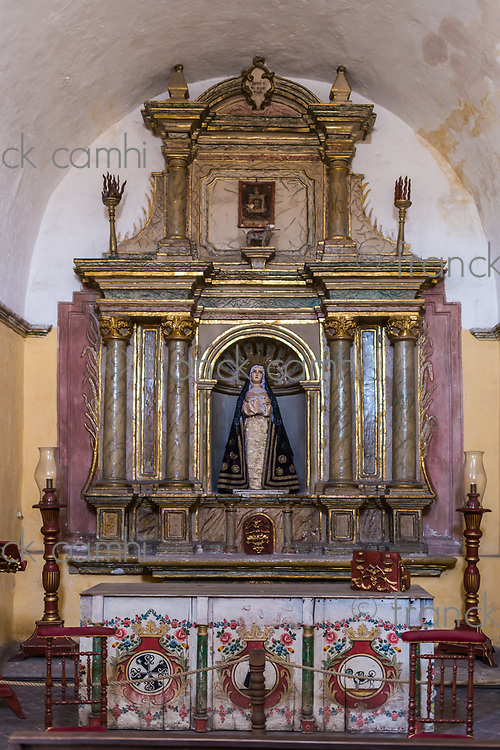 shrine in Santa Catalina monastery at Arequipa Peru