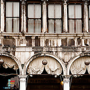 Arches on the architecture in Piazza San Marco. Venice, Italy. 1st May 2011. Photo Tim Clayton