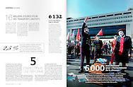 Manifestation des agents des Finances Publiques dans le mensuel Acteurs Publics.