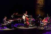 """Albert Sanz, Javier Colina and  Al Foster performing for the """"Jazz festival of Madrid"""""""