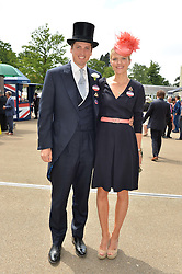 JAKE & ZOE WARREN at day two of the Royal Ascot 2016 Racing Festival at Ascot Racecourse, Berkshire on 15th June 2016.