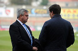 Bristol Rovers Manager Darrell Clarke with chairman Nick Higgs - Mandatory byline: Neil Brookman/JMP - 07966 386802 - 03/10/2015 - FOOTBALL - Globe Arena - Morecambe, England - Morecambe FC v Bristol Rovers - Sky Bet League Two