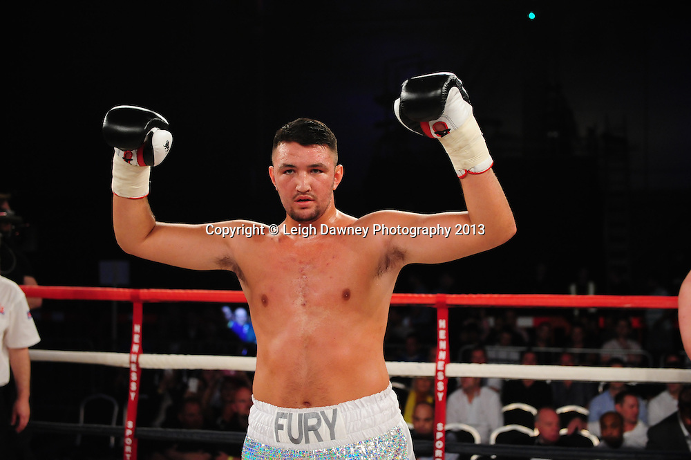 Hughie Fury defeats Ladislab Kovarik at Glow, Bluewater, Dartford, Kent, UK on 8th June 2013. Promoter: Hennessy Sports. Mandatory Credit: © Leigh Dawney