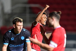 Marley Bishop-Wisdom of Bristol City U21 celebrates City scoring through a Will DeHavilland own-goal - Mandatory by-line: Paul Knight/JMP - Mobile: 07966 386802 - 12/10/2015 -  FOOTBALL - Ashton Gate Stadium - Bristol, England -  Bristol City U21 v Sheffield Wednesday U21 - Professional Development League