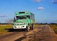 Truck bus in Bolivia, Ciego de Avila Province, Cuba.