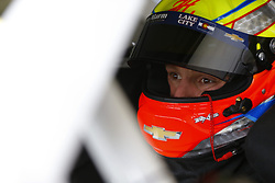 November 16, 2018 - Homestead, Florida, U.S. - John Hunter Nemechek (42) straps into his car to practice for the Ford 300 at Homestead-Miami Speedway in Homestead, Florida. (Credit Image: © Chris Owens Asp Inc/ASP)