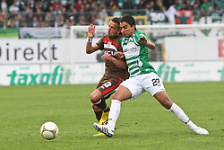 02.05.2010, Playmobil Stadion, Fuerth, GER, 2. FBL, SpVgg Greuther Fuerth vs FC St. Pauli, im Bild.Zweikampf zwischen Sami Allagui (Fuerth #22) und Deniz Naki (FC St. Pauli #23).EXPA Pictures © 2010, PhotoCredit: EXPA/ nph/  news / SPORTIDA PHOTO AGENCY