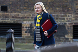 London, December 19 2017. Chief Secretary to the Treasury Elizabeth Truss arrives at 10 Downing Street for the last cabinet meeting before the Christmas break. © Paul Davey