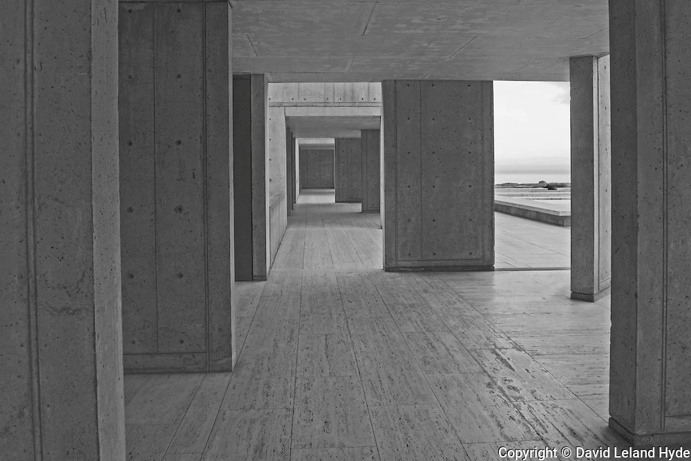 Side Corridor, Main Courtyard, Salk Institute for Biological Studies, La Jolla Shores, San Diego, California, 2009 by David Leland Hyde.