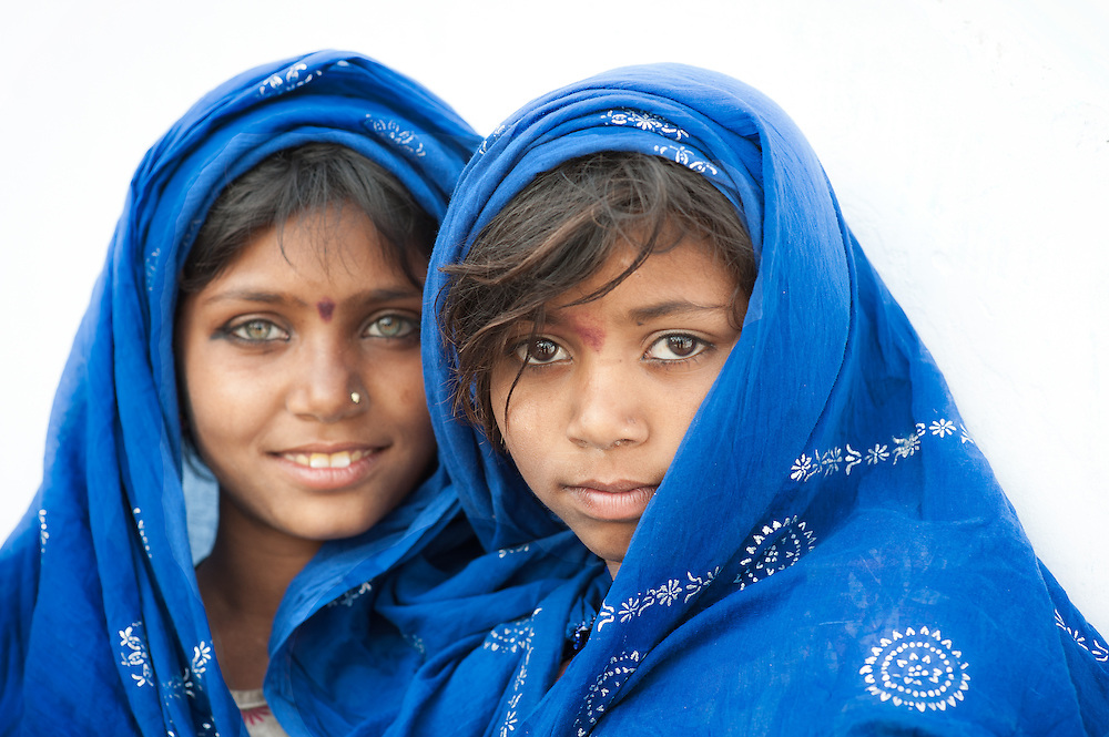 Two sisters from the Rajasthani Thar desert in India.