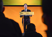 © Licensed to London News Pictures. 10/03/2013. Brighton, UK. Nick Clegg, Liberal Democrat Leader and Deputy Prime Minister delivers his keynote speech to the Liberal Democrat Spring Conference in Brighton today 9th March 2013. Photo credit : Stephen Simpson/LNP