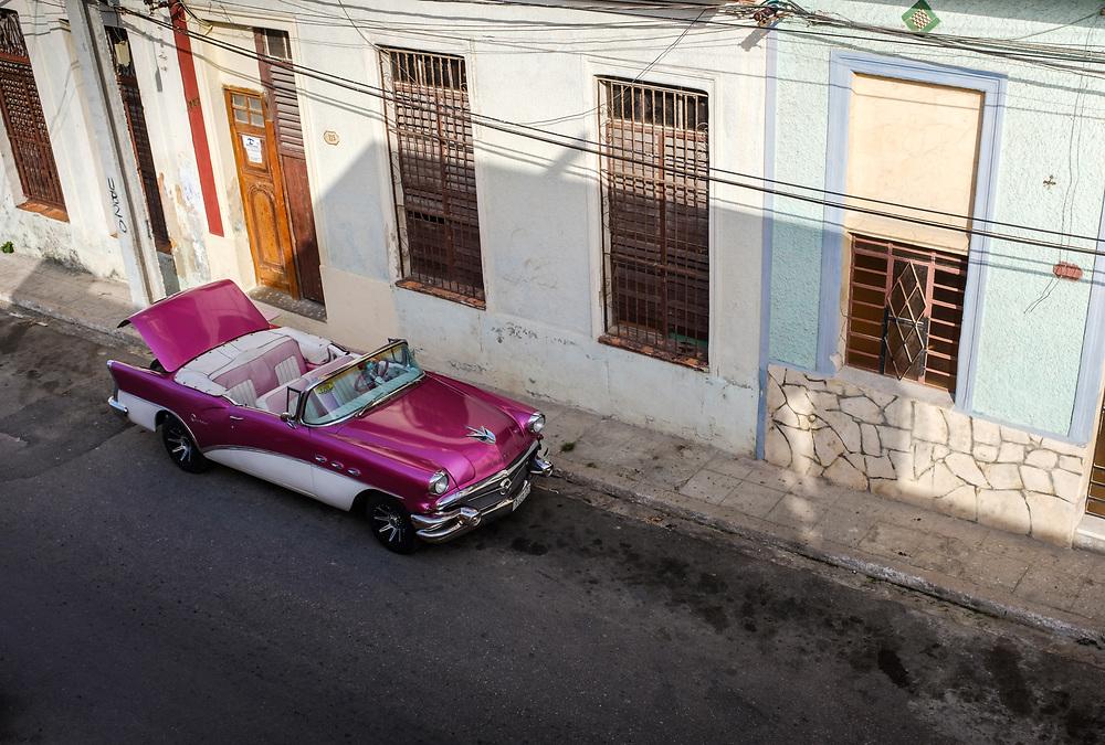 HAVANA, CUBA - CIRCA MAY 2017:  Old Classic Car in Havana.