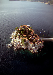 Montenegro (formerly Yugoslavia):  Originally a small fishing village and now an idyllic island totally devoted to one resort, Sveti Stefan draws celebrities to the Montenegran coast south of Dubrovnik (Croatia).