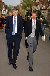 Left to right, brothers ZAC & BEN GOLDSMITH at the wedding of Laura Parker Bowles to Harry Lopes held at Lacock, Wiltshire on 6th May 2006.<br />