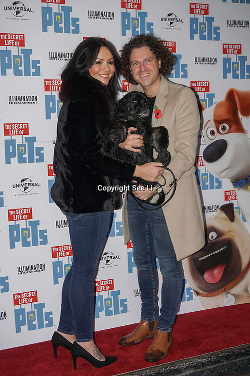 London, England,UK. 12th Nov 2016: Guests attend the UK 'Petmiere' of The Secret Life of Pets to mark the Blu-ray and DVD release on Monday November 14th 2016 at Prince Charles Cinema, Soho,London,UK. Photo by See Li