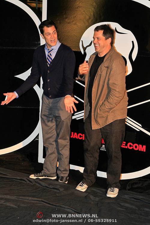 NLD/Amsterdam/20101029 - Premiere Jackass 3D, Johnny Knoxville en Jeff Tremaine