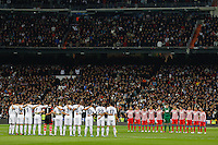 01.12.2012 SPAIN -  La Liga 12/13 Matchday 14th  match played between Real Madrid CF vs  Atletico de Madrid (2-0) at Santiago Bernabeu stadium. The picture show