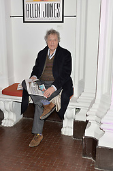 SIR TOM STOPPARD at the opening private view of 'A Strong Sweet Smell of Incense - A portrait of Robert Fraser, held at the Pace Gallery, Burlington Gardens, London on 5th February 2015.