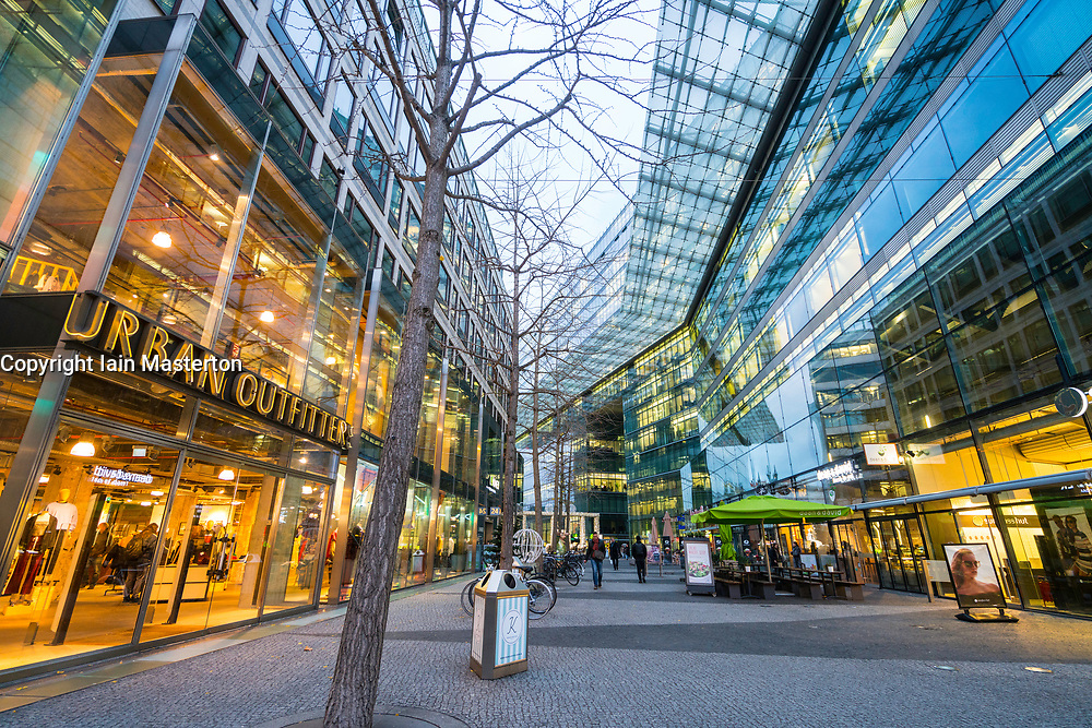 Modern shopping and business centre on Kurfurstendamm in Berlin, Germany