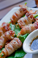 Fresh shrimp wrapped in bacon, grilled and served with a dipping sauce.