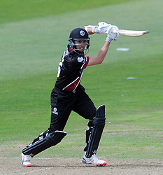 Somerset's Tom Cooper cuts the ball - Photo mandatory by-line: Harry Trump/JMP - Mobile: 07966 386802 - 31/07/15 - SPORT - CRICKET - Somerset v Worcestershire- Royal London One Day Cup - The County Ground, Taunton, England.