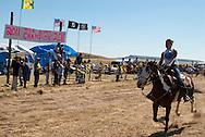 Fort Belknap Indian Reservation, Montana, Milk River Memorial Horse Races, Youth One Mile Race, Belinda Horn, Assiniboine .