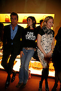 RUPERT EVERETT, BELLA FREUD AND SIDNEY FINCH, Launch of the GQ Style Leisure issue and the Presentation of the Spring Summer 2006 collection. Prada. Old Bond St. 30 March 2006. ONE TIME USE ONLY - DO NOT ARCHIVE  © Copyright Photograph by Dafydd Jones 66 Stockwell Park Rd. London SW9 0DA Tel 020 7733 0108 www.dafjones.com