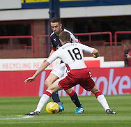 Dundee&rsquo;s Michael Duffy takes on Rangers' Jordan Rossiter - Dundee v Rangers, Ladbrokes Scottish Premiership at Dens Park<br /> <br />  - &copy; David Young - www.davidyoungphoto.co.uk - email: davidyoungphoto@gmail.com
