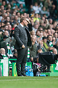 14th October 2017, Celtic Park, Glasgow, Scotland; Scottish Premiership football, Celtic versus Dundee; Celtic manager Brendan Rodgers