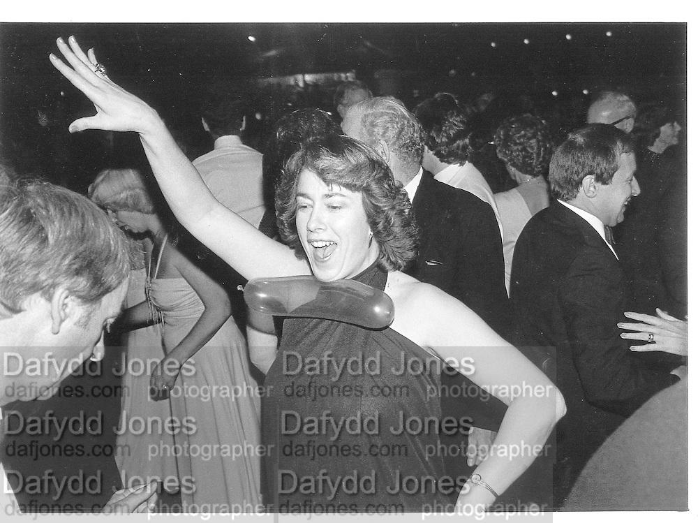Lady Dancing. Conservative  Ball. Frimley. 1983© Copyright Photograph by Dafydd Jones 66 Stockwell Park Rd. London SW9 0DA Tel 020 7733 0108 www.dafjones.com