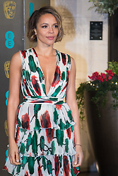 Photo Must Be Credited ©Alpha Press<br /> Carmen Ejogo<br /> arrives at the EE British Academy Film Awards after party dinner at the Grosvenor House Hotel in London.