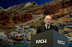 DK caption:<br /> Herning, Danmark, 20140221: <br /> MCH Messe, Ferie for alle.   Georg Sørensen, Adm. Dir. i MCH.<br /> Foto: Lars Møller<br /> UK Caption:<br /> Herning, Denmark, 20140221: <br /> MCH Fair, Ferie for alle.   Georg Sørensen, CEO in MCH.<br /> Photo: Lars Moeller
