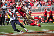 San Francisco 49ers wide receiver DiAndre Campbell (19)  and Houston Texans defensive back Charles James (31) fight for a pass at Levi's Stadium in Santa Clara, Calif., on August 14, 2016. (Stan Olszewski/Special to S.F. Examiner)