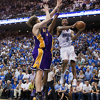 BASKET BALL - PLAYOFFS NBA 2008/2009 - LOS ANGELES LAKERS V ORLANDO MAGIC - GAME 3 -  ORLANDO (USA) - 09/06/2009 - .RASHARD LEWIS (MAGIC), LAMAR ODOM (LAKERS), PAU GASOL (LAKERS)