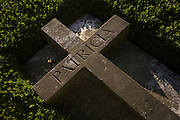 Detail of burial plot for the Rothermere family in Holy Trinity Church, High Hurstwood, East Sussex.