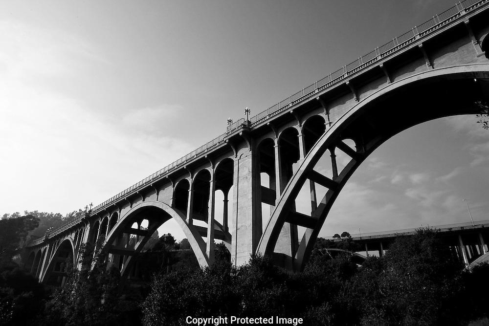The Colorado street bridge also know as Suicide Bridge in Pasadena.