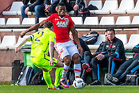 MARBELLA - 07-01-2017, Trainingskamp, AZ - FC Augsburg, 1-1, FC Augsburg speler Paul Verhaegh, AZ speler Fred Friday