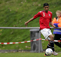 Fotball<br /> Landskamp G15<br /> Sverige v Norge 0:3<br /> Arvika<br /> 23.09.2010<br /> Foto: Morten Olsen, Digitalsport<br /> <br /> Mithilan Ahilan  -  Skeid