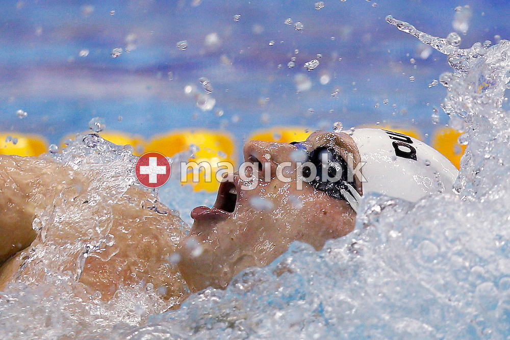 Winner Radoslaw KAWECKI of Poland competes in the men's 200m Backstroke Final during the 15th European Short Course Swimming Championships in Szczecin, Poland, Thursday, Dec. 8, 2011. (Photo by Patrick B. Kraemer / MAGICPBK)