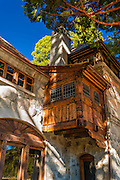 Exterior detail at Vikingsholm castle, Emerald Bay State Park, Lake Tahoe, California USA