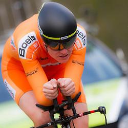 09-04-2016: Wielrennen: Energiewachttour vrouwen: Roden<br /> LEEK (NED) wielrennen<br /> De vijfde etappe van de Energiewachttour was een individuele tijdrit met start en finish in Leek. Vera Koedooder