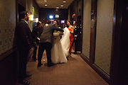 Wedding photograph taken at Hotel 71 in Chicago, Illinois. Photography by Eight One Seven Photography November 25, 2012.