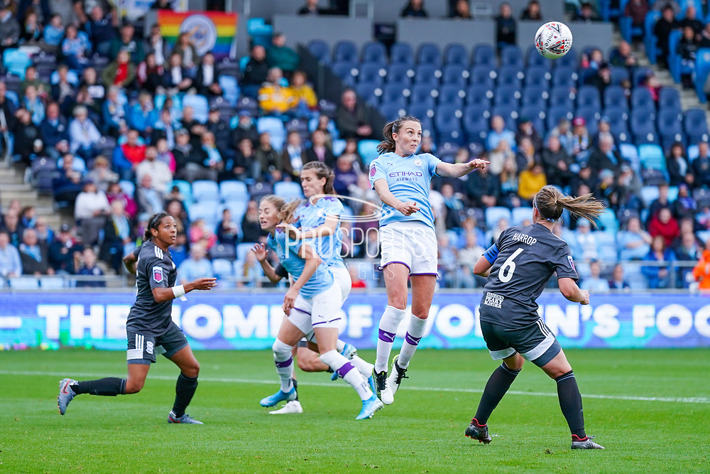 Manchester City Women forward Caroline Weir (19) in action during the FA Women's Super League match between Manchester City Women and BIrmingham City Women at the Sport City Academy Stadium, Manchester, United Kingdom on 12 October 2019.